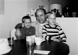 Uncle Eddie with me (right most) and my brother Michael