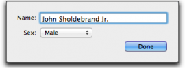 Name Editing Window in Family Tree Maker for Mac 2