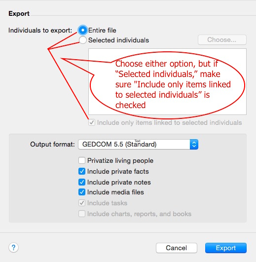 Fig 2 Export Options