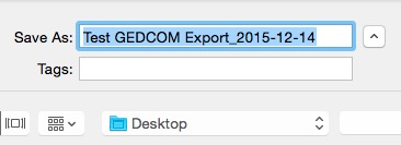 Fig 3 Export File name