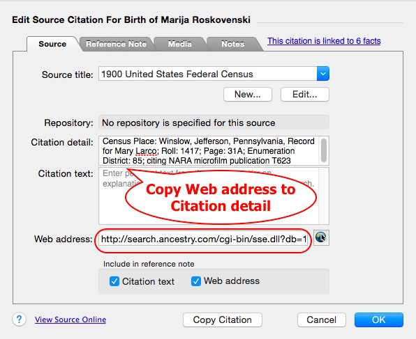Fig 4 Source citation with web address