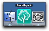 RootsMagic 4 in the Mac OS X Dock