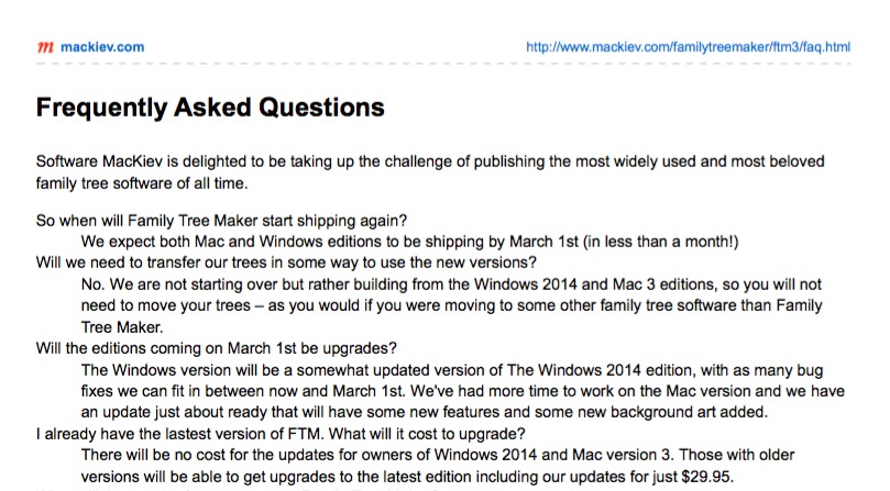 Where Are The Free Family Tree Maker Updates